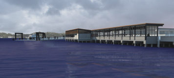 Rendering 2016 future Water Taxi facility at Colman Dock