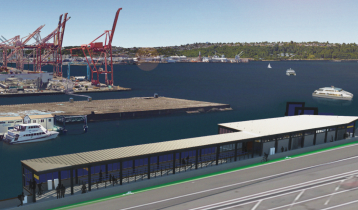 Rendering 2016 of future Water Taxi facility at Colman Dock