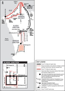 map of water taxi shuttle route