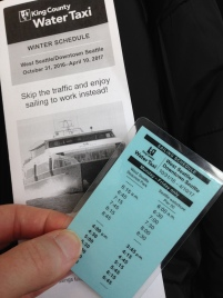 Water Taxi winter schedule brochure and laminated schedule