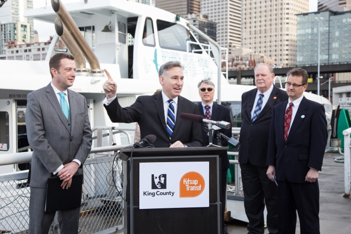 King County Water Taxi and Kitsap Transit are working together to launch passneger-only ferry service between downtown Seattle and the Kitsap Peninsula.