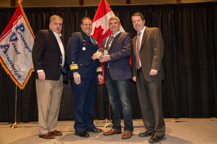 Ron Panzero, Operations and Maintenance Manager, receives the Roger Murphy National Marine Safety Award at the Passenger Vessel Association's Annual Conference on Tuesday, Jan. 31, 2017 in Seattle.