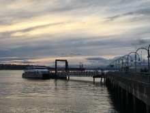 The MV Doc Maynard picks up passengers bound for West Seattle