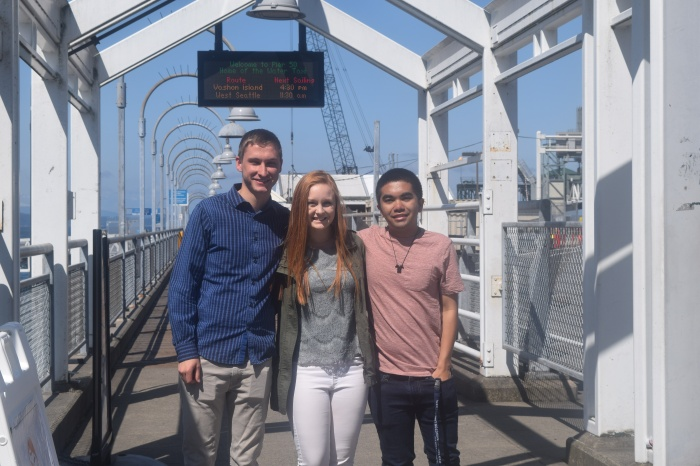 Our summer interns, from left to right: Alex Blough, Madeline Neubert and Alfred Fuentes