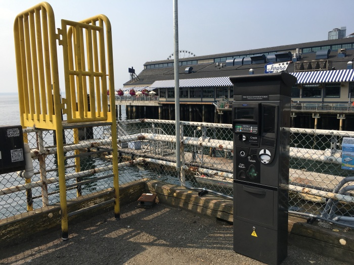 King County Water Taxi's temporary location also offers new ticketing machines for riders bound for West Seattle, Vashon Island and Bremerton.