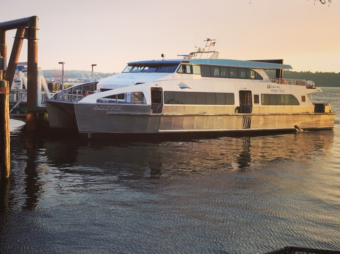 The Sally Fox is docked at Pier 52 in Seattle.