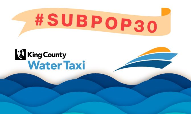 Shown is King County Water Taxi's Geofilter for Snapchat users, which pays tribute to Sub Pop Records' 30th Anniversary