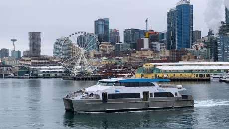 Doc Maynard travels to West Seattle from downtown Seattle