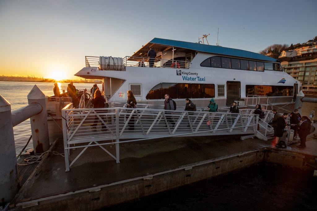 The MV Doc Maynard unloads in West Seattle