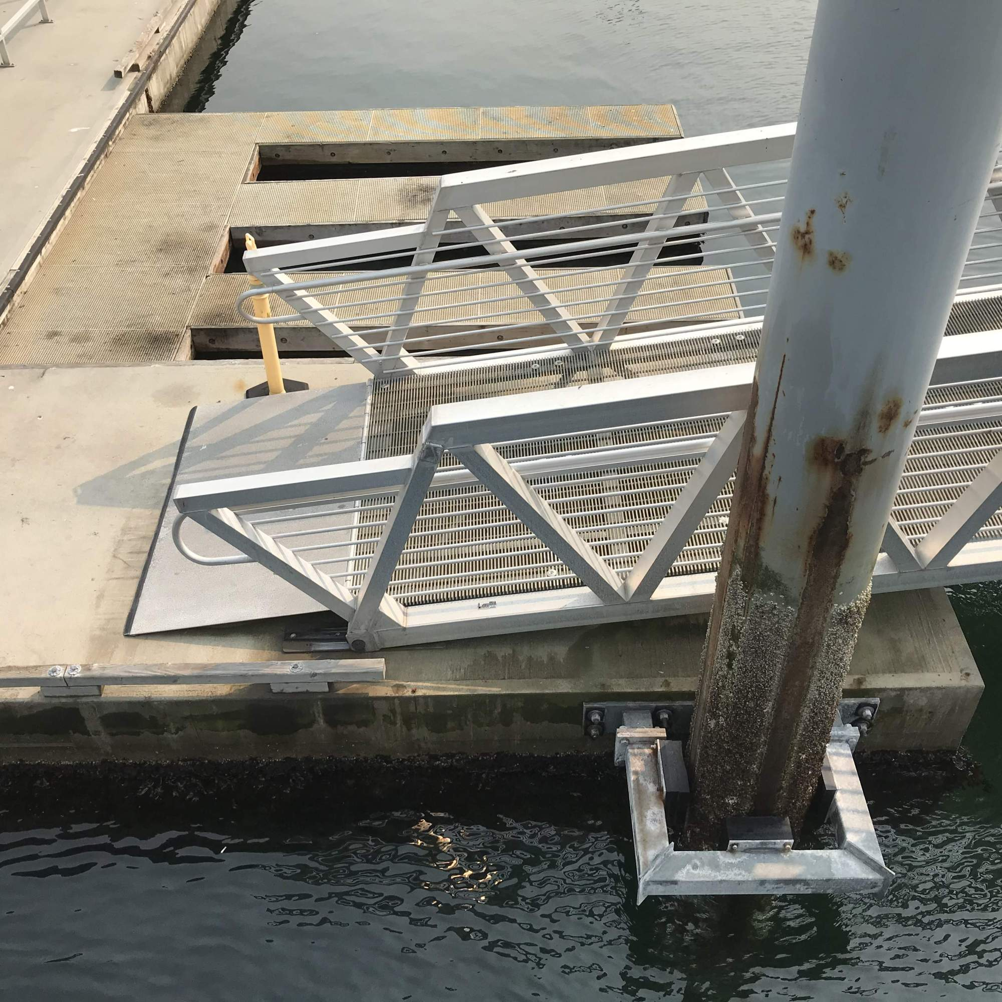 The passenger ramp is shown at its connection point to Float A